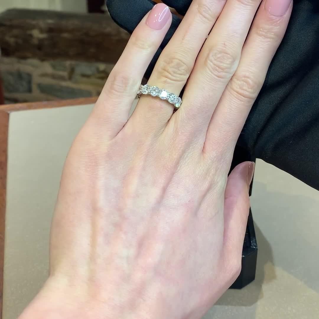 Brilliant Cut Diamond Eternity Ring<br /> 6.21CT in Platinum