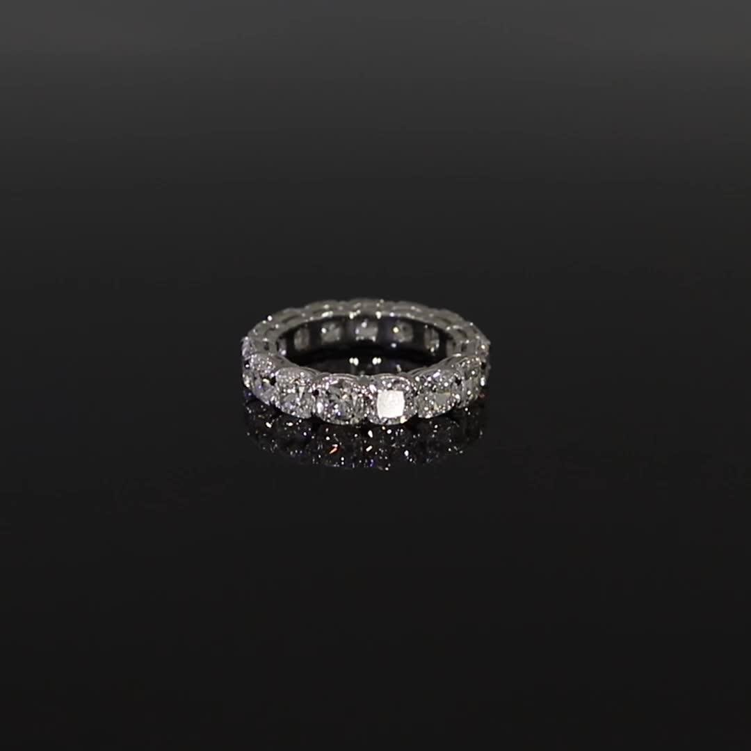 Cushion Cut Diamond Eternity Ring<br /> 6.20CT in Platinum