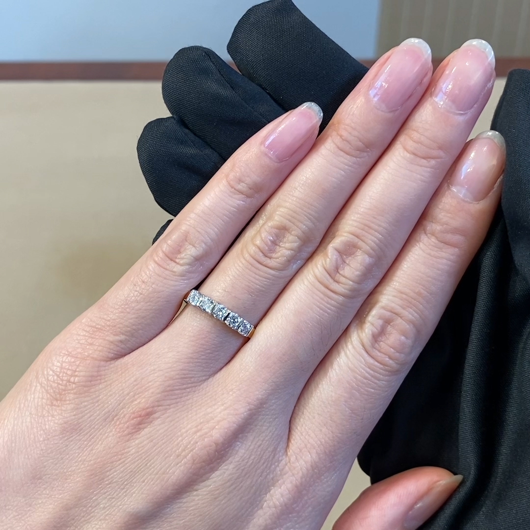 Round Brilliant Cut Diamond Five-Stone Ring<br /> 0.64CT in 18CT Yellow Gold