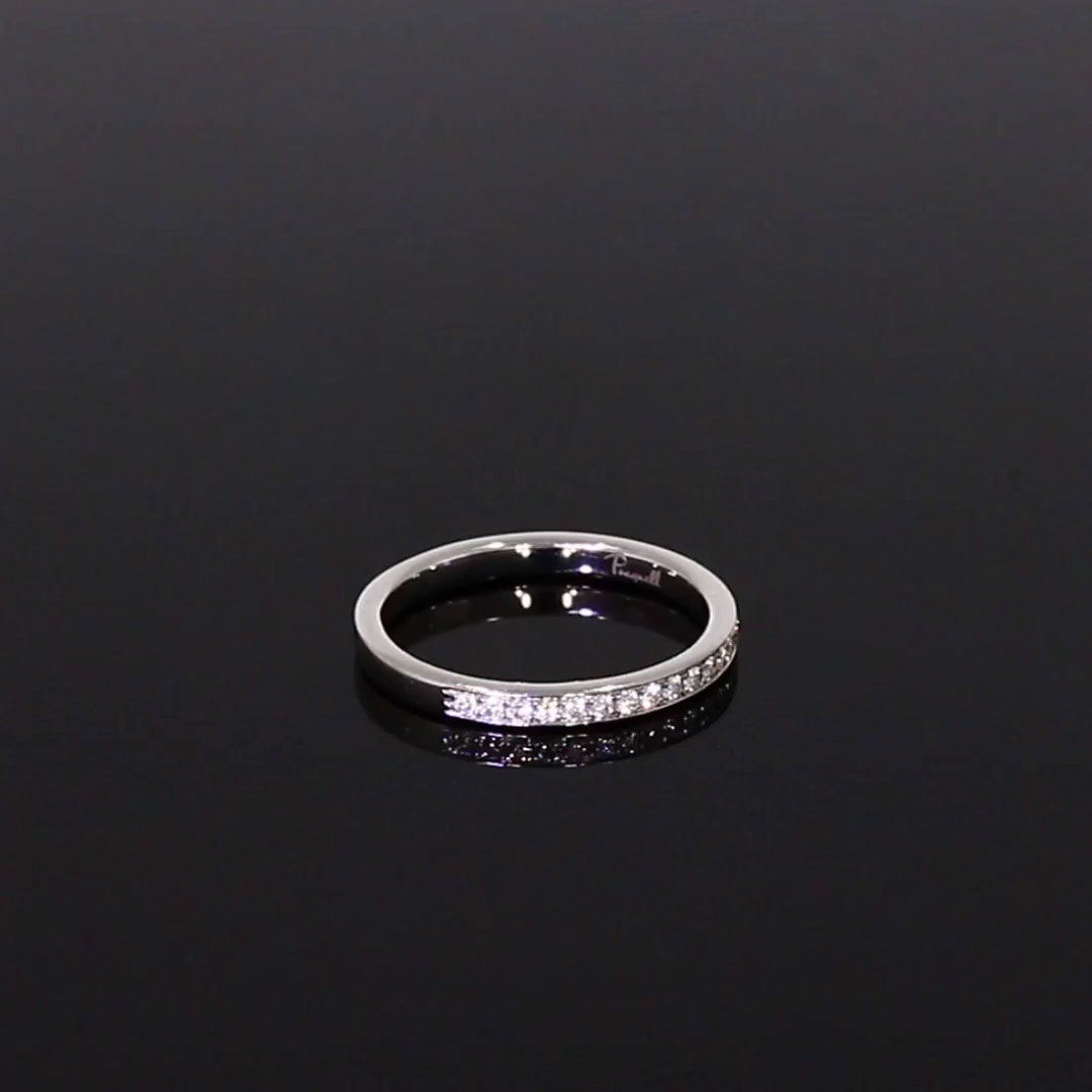 Brilliant Cut Diamond Half Eternity Ring<br /> 0.15CT in Platinum