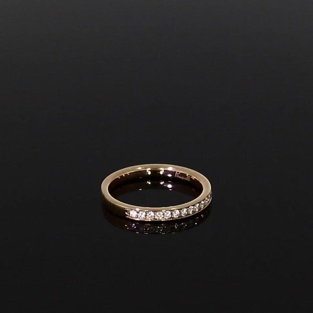 Brilliant Cut Diamond Half Eternity Ring<br /> 0.15CT in 18CT Rose Gold
