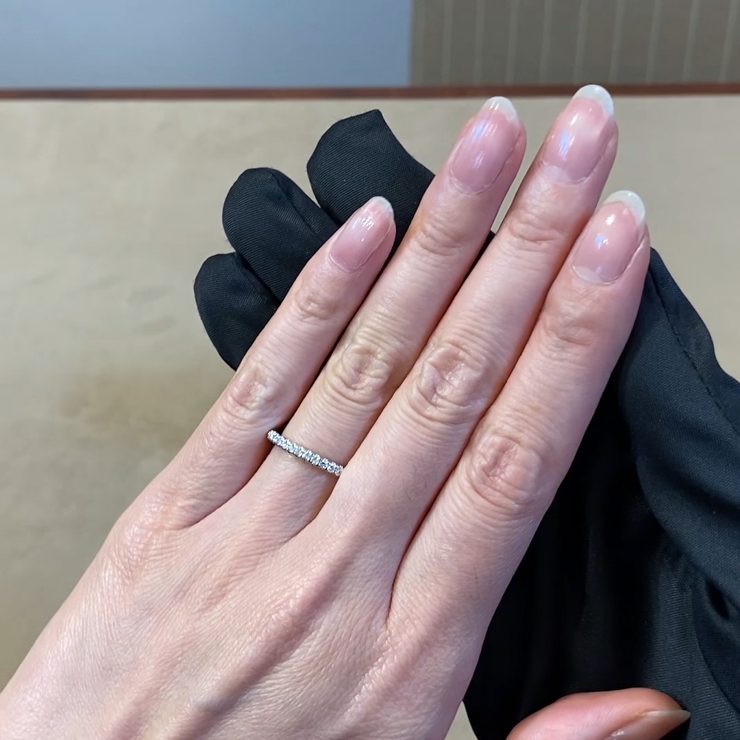 Brilliant Cut Diamond Half Eternity Ring<br /> 0.22CT in Platinum