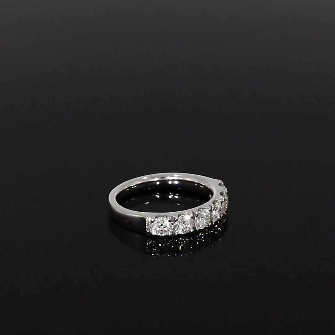 Brilliant Cut Diamond Half Eternity Ring<br /> 1.14CT in Platinum