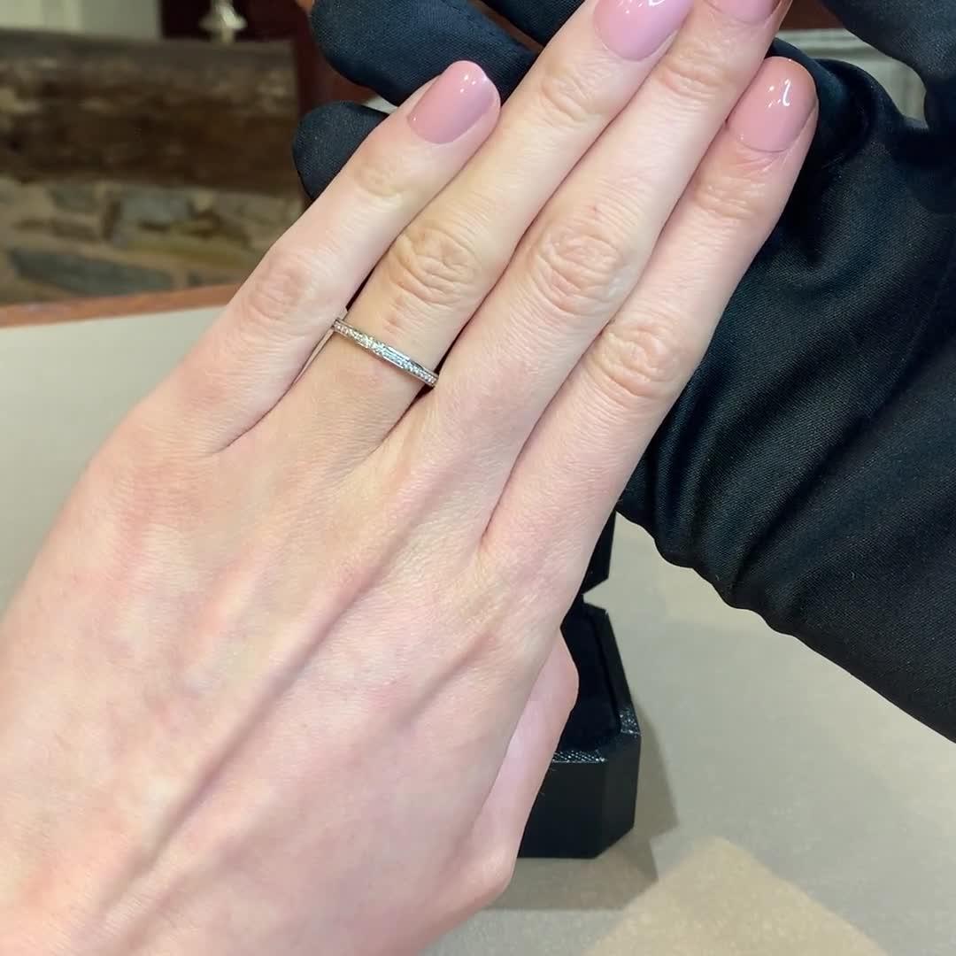 Brilliant Cut Diamond Half Eternity Ring<br /> 0.12CT in Platinum