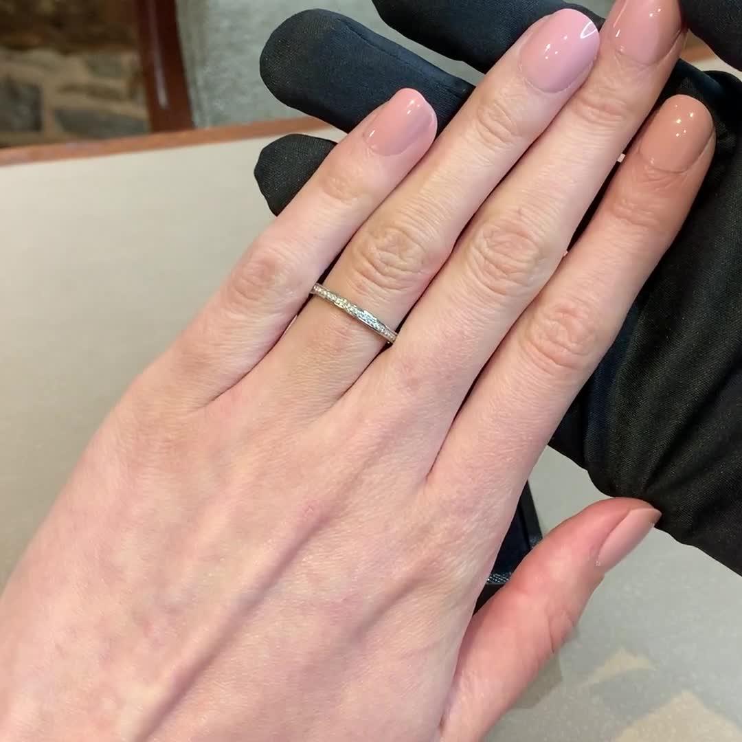Brilliant Cut Diamond Half Eternity Ring<br /> 0.24CT in Platinum