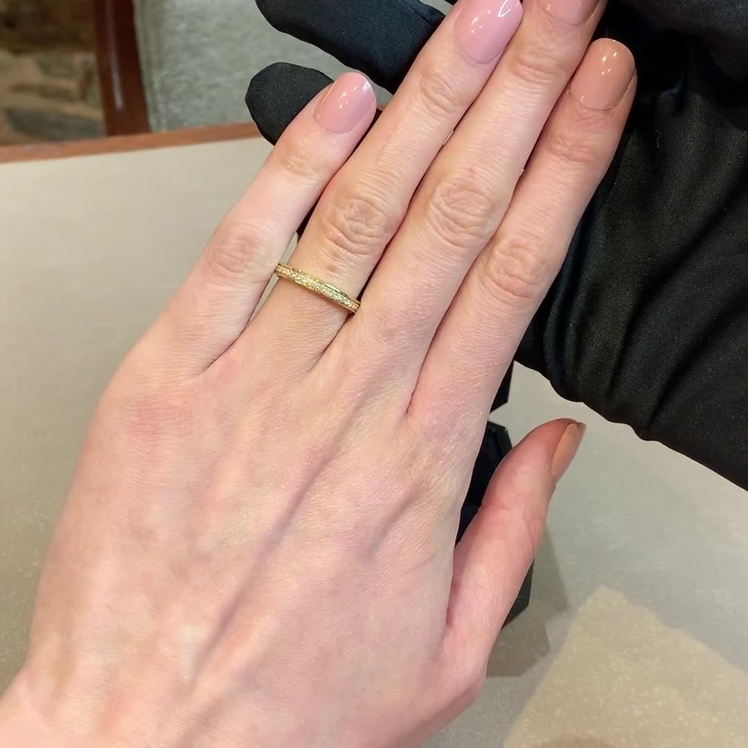 Brilliant Cut Diamond Half Eternity Ring<br /> 0.24CT in 18CT Yellow Gold