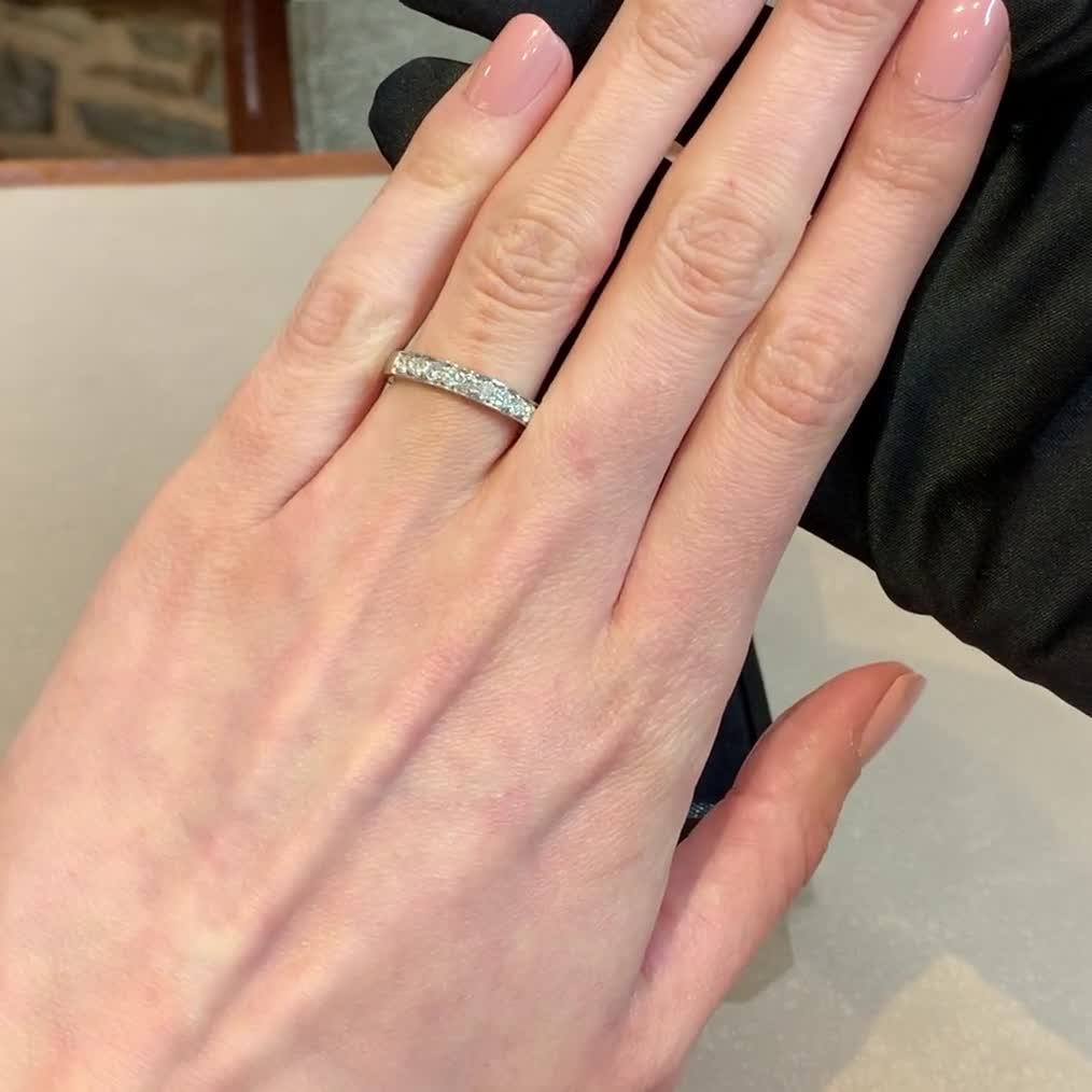 Brilliant Cut Diamond Half Eternity Ring<br /> 0.50CT in Platinum