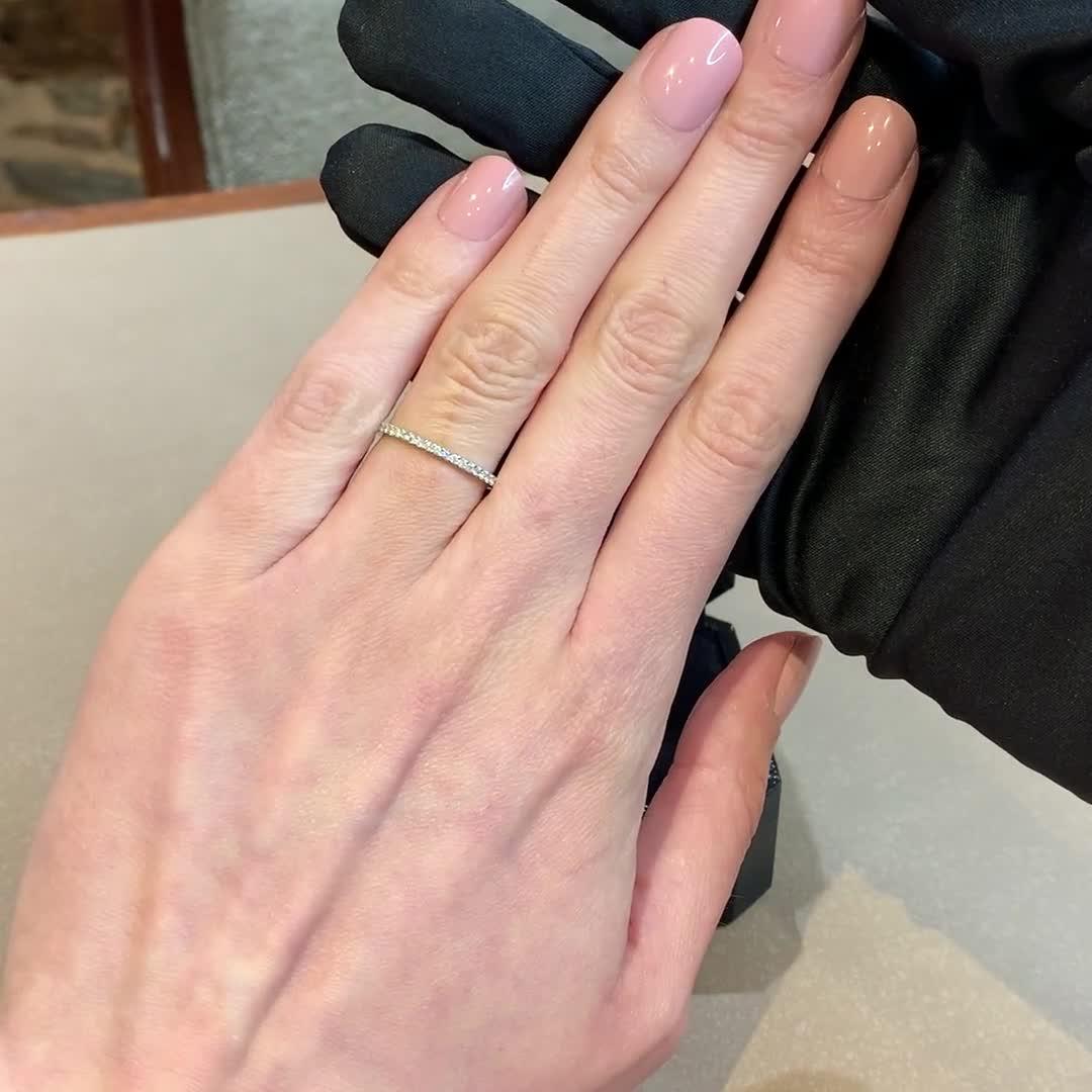 Brilliant Cut Diamond Half Eternity Ring<br /> 0.20CT in Platinum