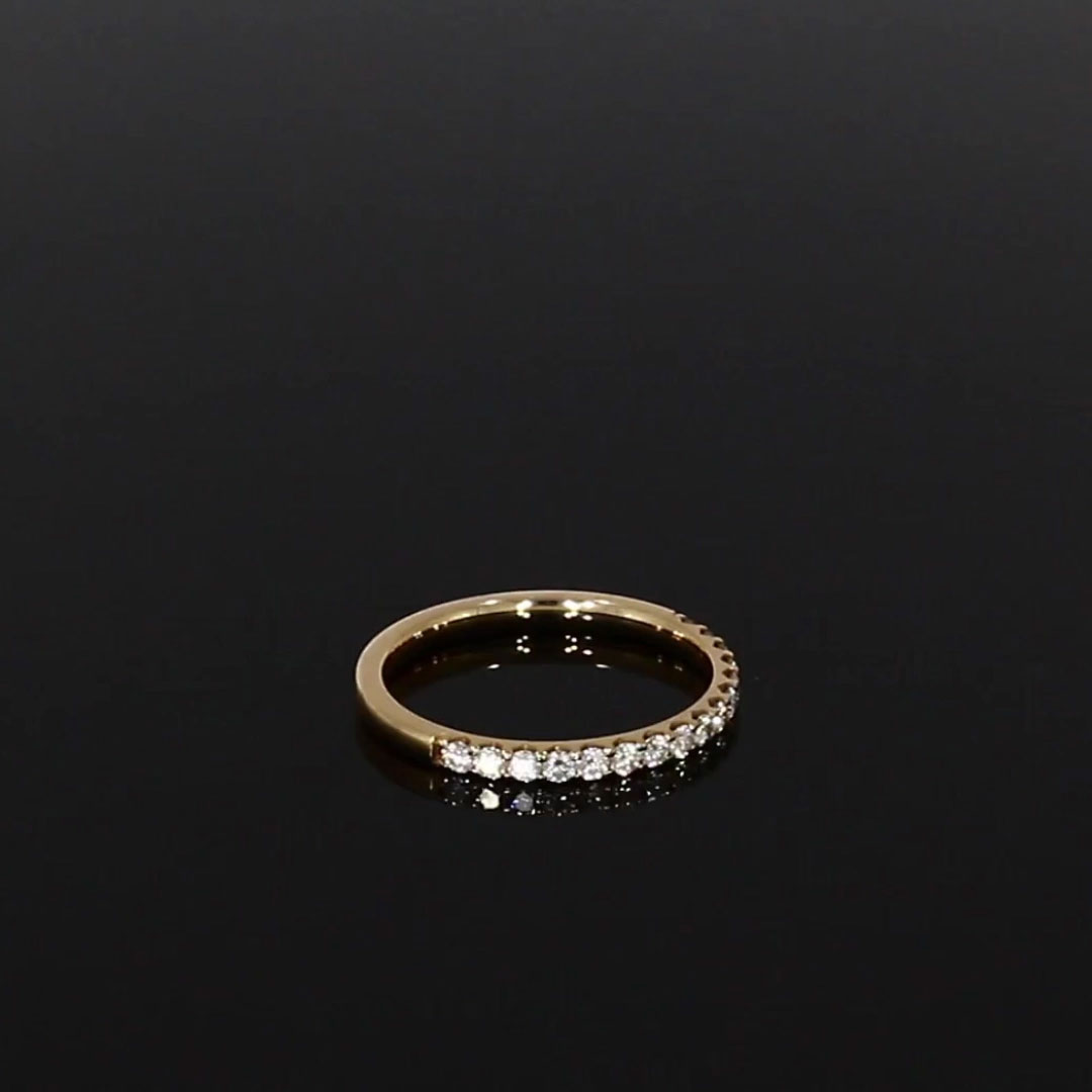 Brilliant Cut Diamond Half Eternity Ring<br /> 0.36CT in 18CT Rose Gold