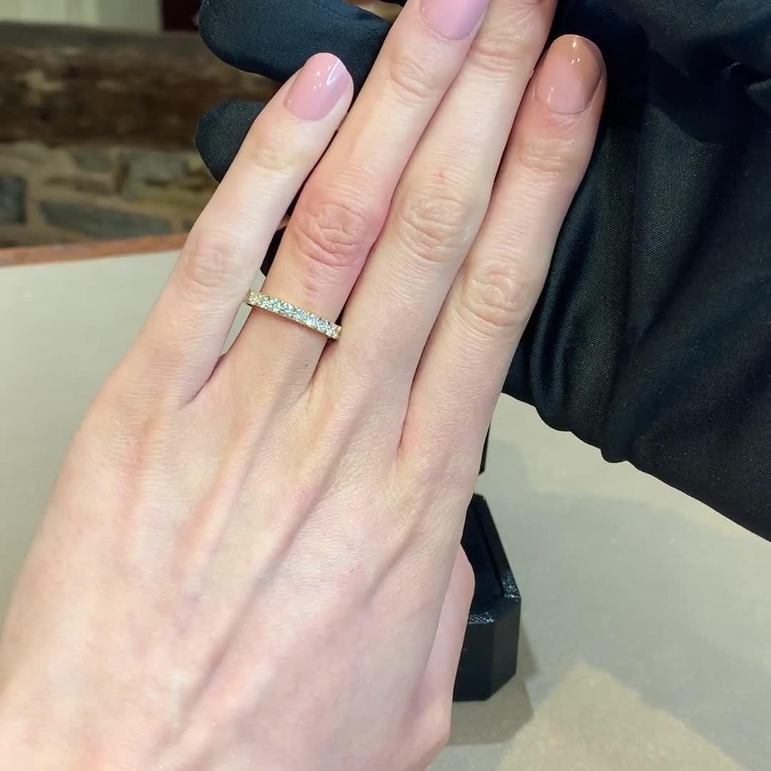 Brilliant Cut Diamond Half Eternity Ring<br /> 0.72CT in 18CT Yellow Gold