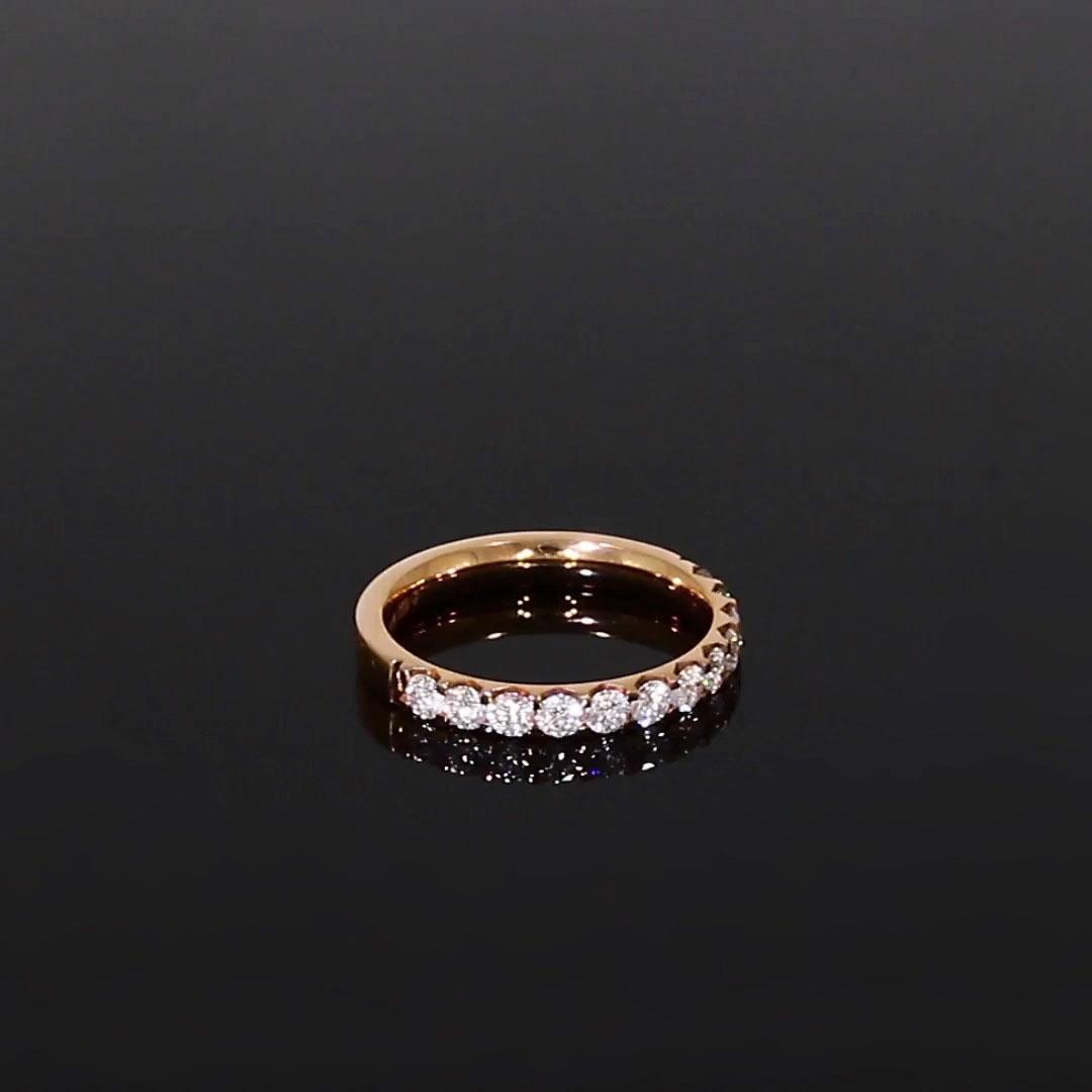 Brilliant Cut Diamond Half Eternity Ring<br /> 0.70CT in 18CT Rose Gold