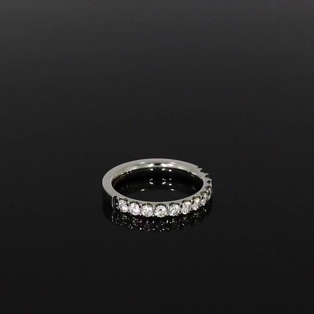 Brilliant Cut Diamond Half Eternity Ring<br /> 0.70CT in Platinum