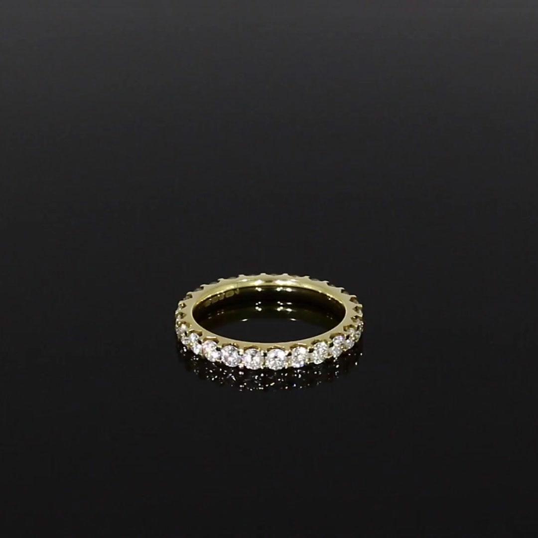 Brilliant Cut Diamond Eternity Ring<br /> 1.40CT in 18CT Yellow Gold