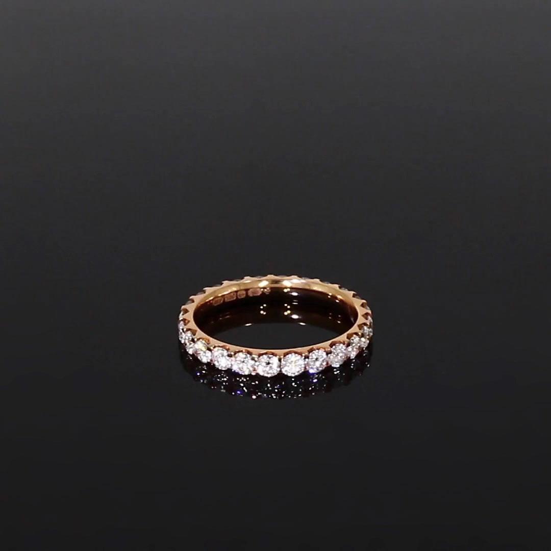 Brilliant Cut Diamond Eternity Ring<br /> 1.40CT in 18CT Rose Gold