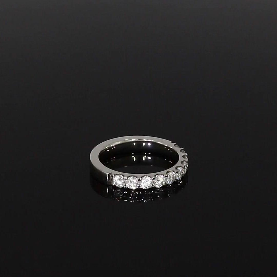 Brilliant Cut Diamond Half Eternity Ring<br /> 0.90CT in Platinum