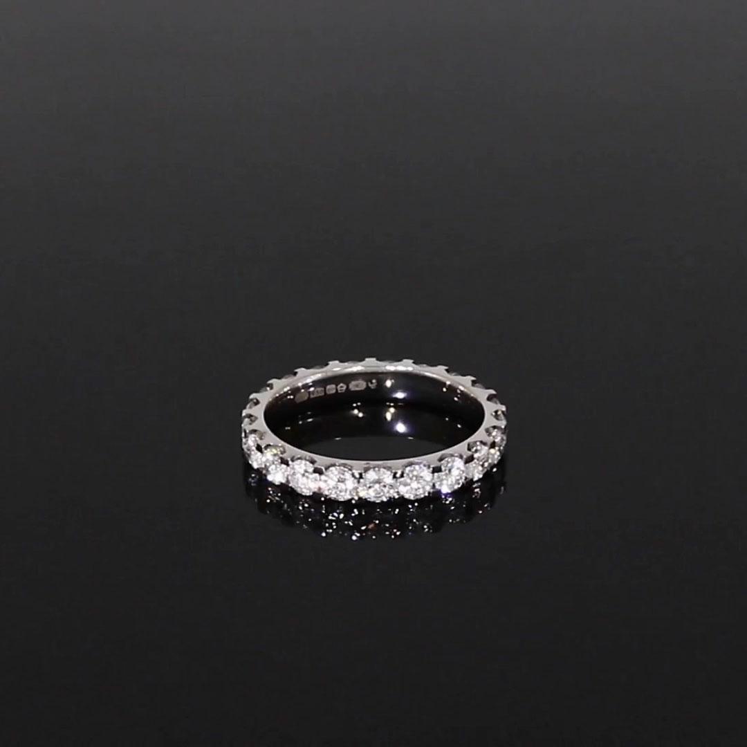 Brilliant Cut Diamond Eternity Ring<br /> 1.90CT in Platinum