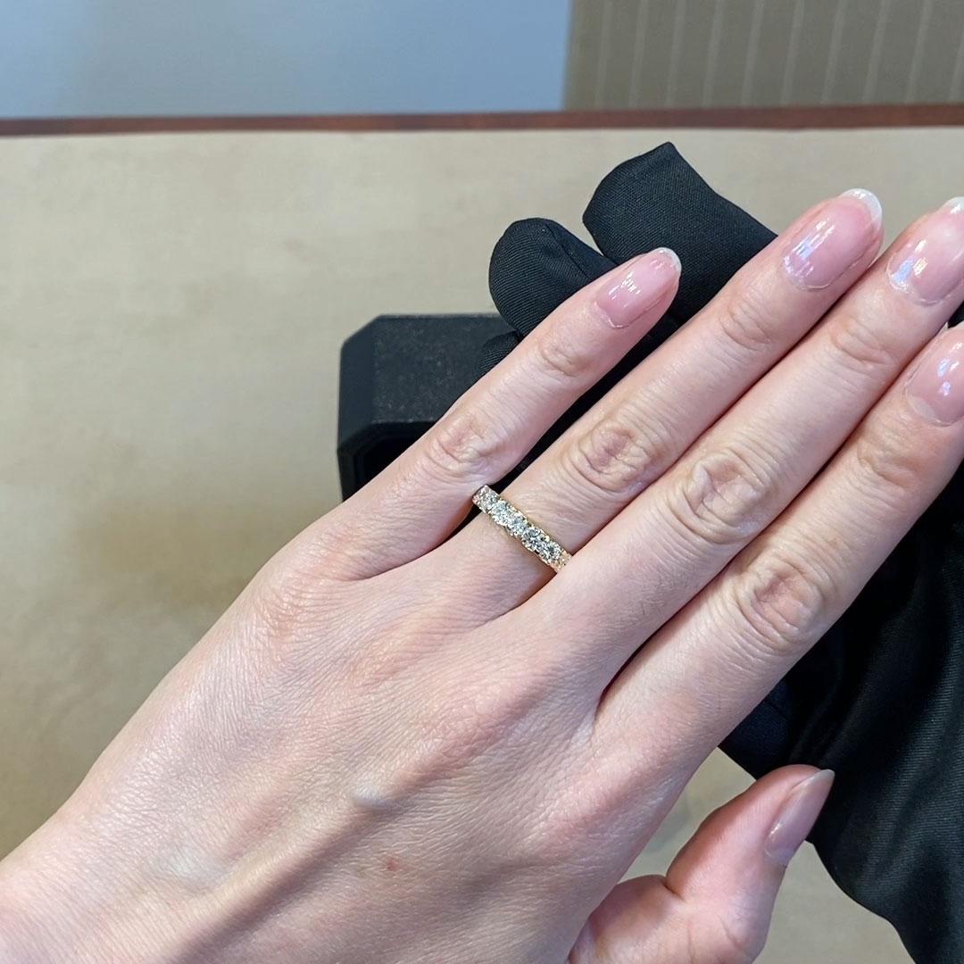 Brilliant Cut Diamond Half Eternity Ring<br /> 1.50CT in 18CT Yellow Gold