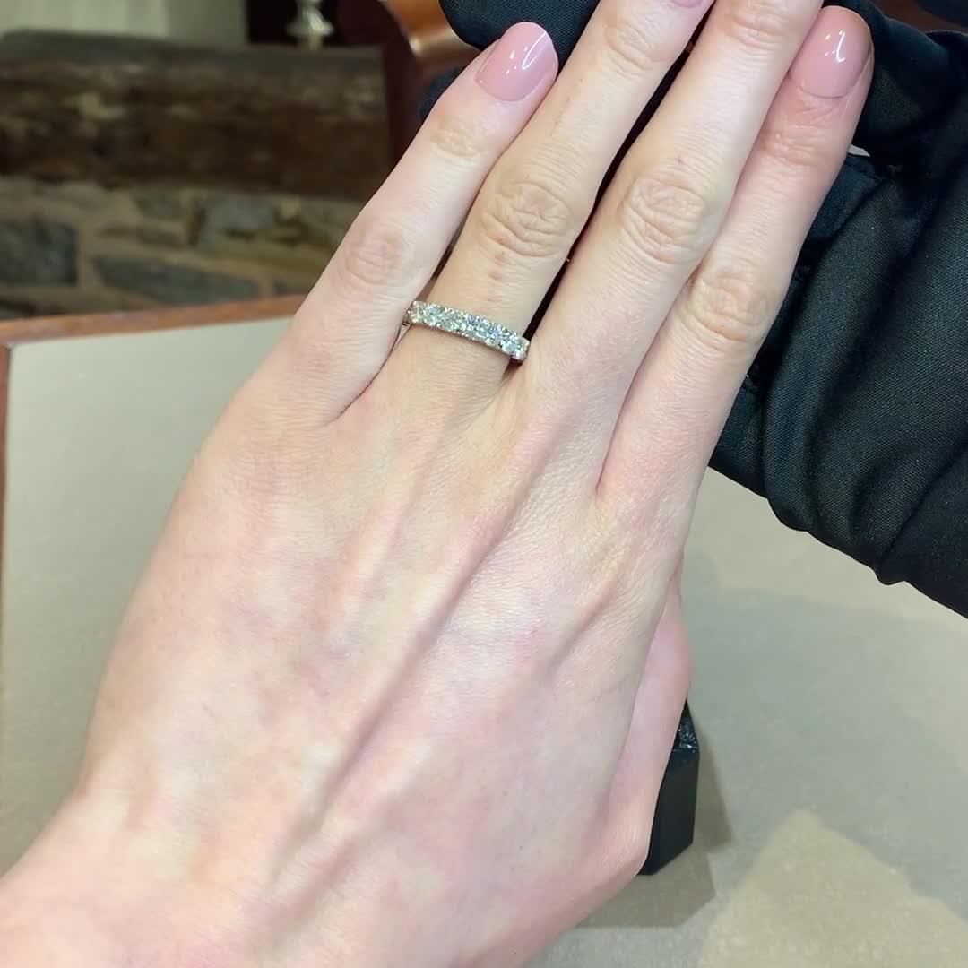 Brilliant Cut Diamond Half Eternity Ring<br /> 1.50CT in Platinum