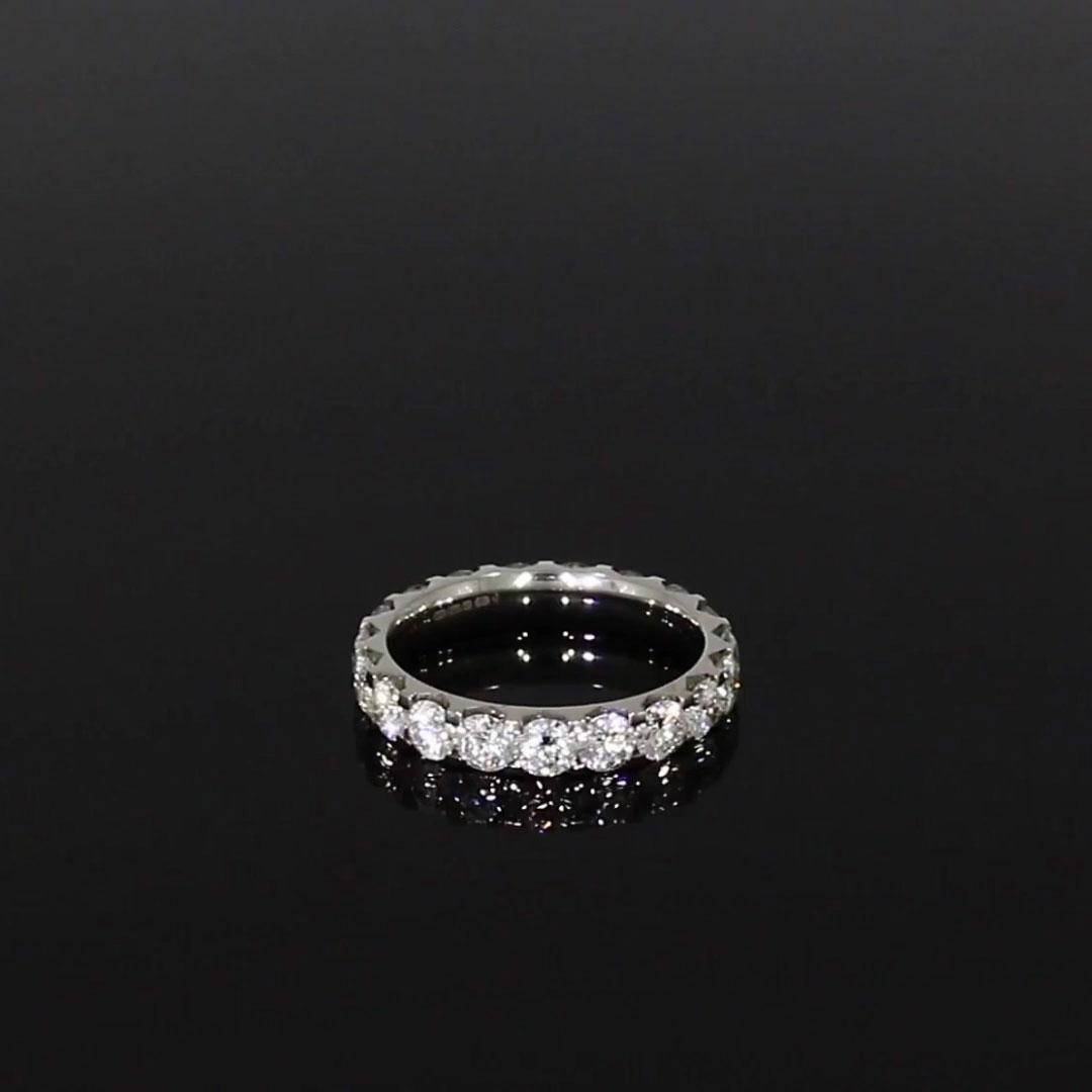 Brilliant Cut Diamond Eternity Ring<br /> 3.00CT in Platinum