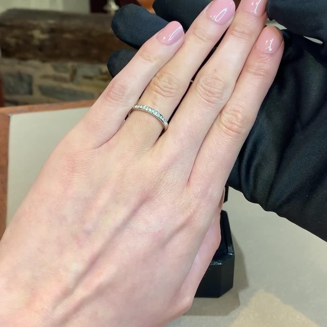 Brilliant Cut Diamond Half Eternity Ring<br /> 0.25CT in Platinum