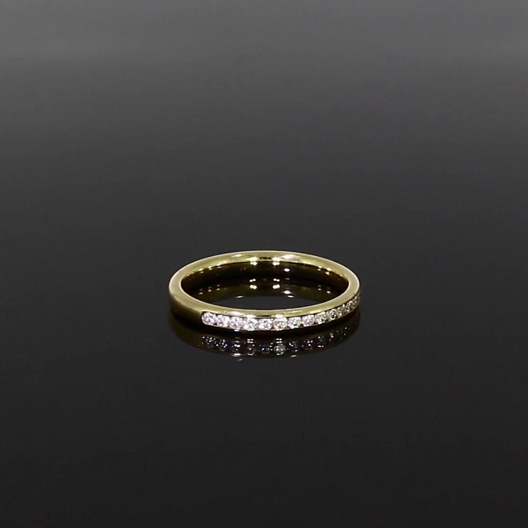Brilliant Cut Diamond Half Eternity Ring<br /> 0.29CT in 18CT Yellow Gold