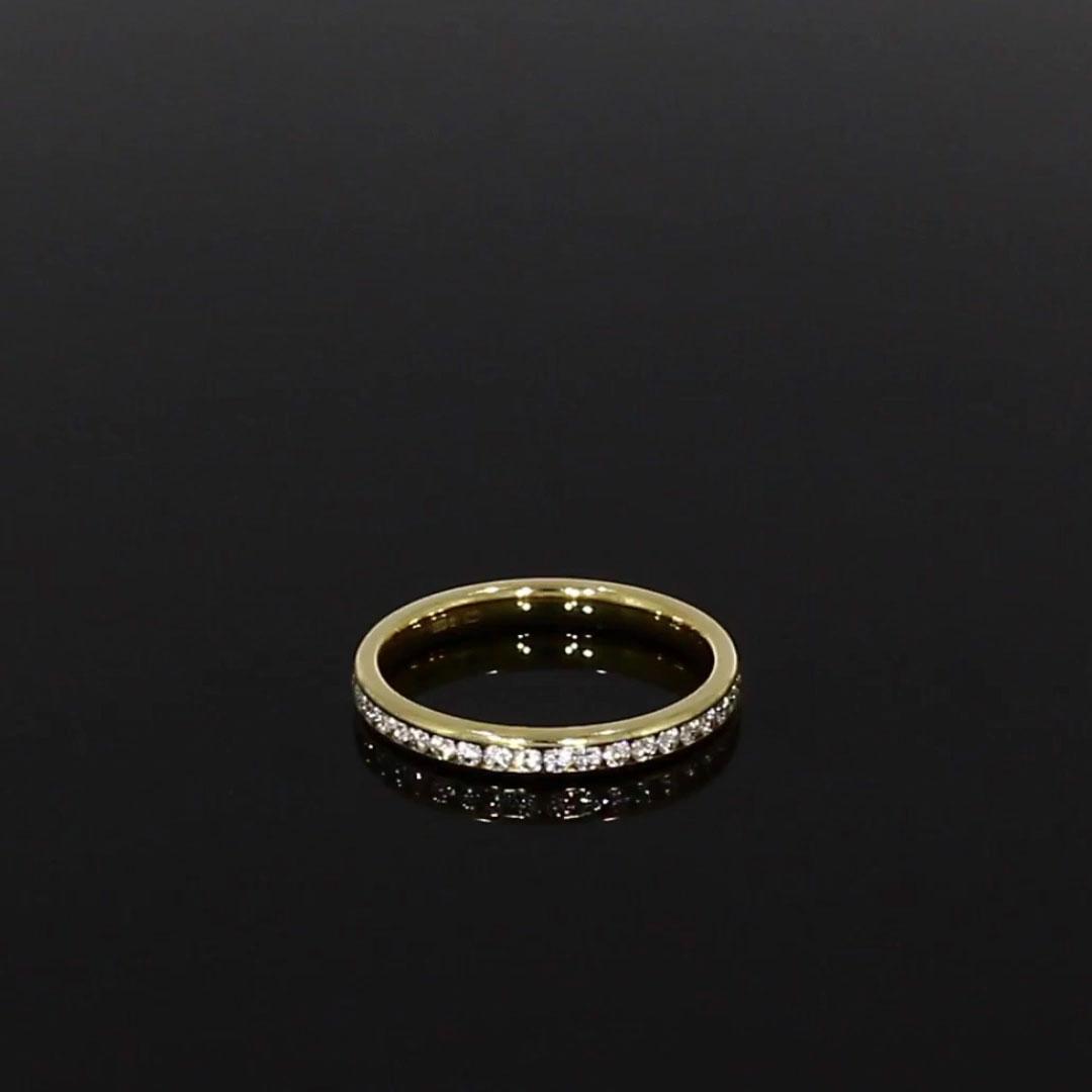 Brilliant Cut Diamond Eternity Ring<br /> 0.63CT in 18CT Yellow Gold