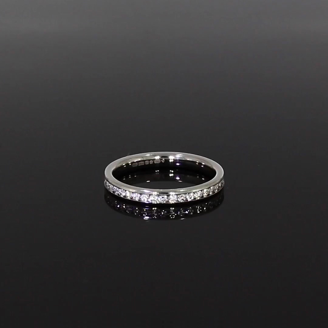 Brilliant Cut Diamond Eternity Ring<br /> 0.63CT in Platinum