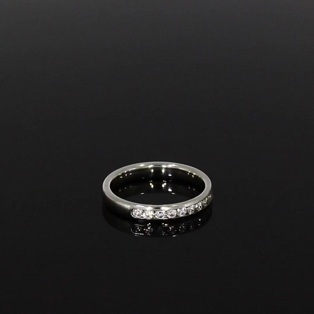 Brilliant Cut Diamond Half Eternity Ring<br /> 0.45CT in Platinum