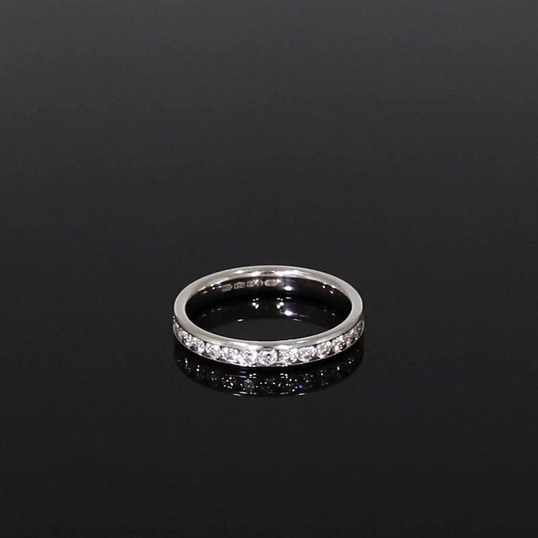 Brilliant Cut Diamond Eternity Ring<br /> 0.90CT in Platinum