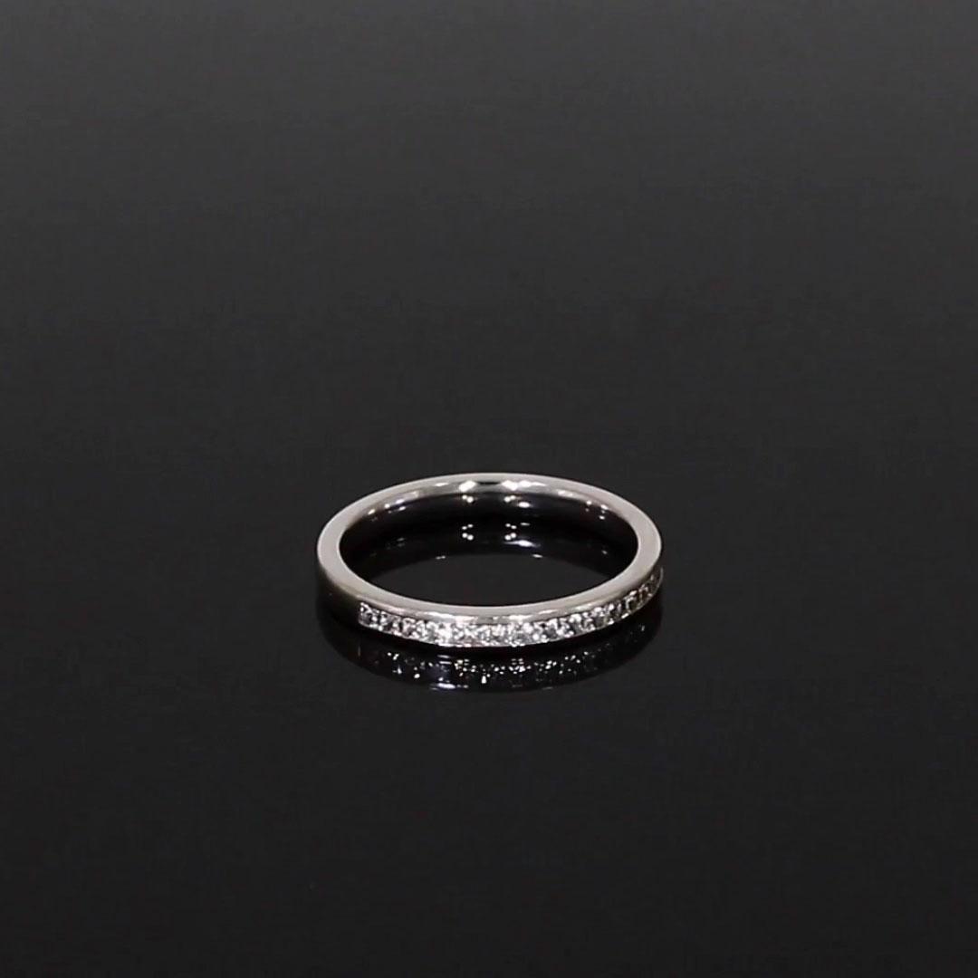 Princess Cut Diamond Half Eternity Ring<br /> 0.47CT in Platinum