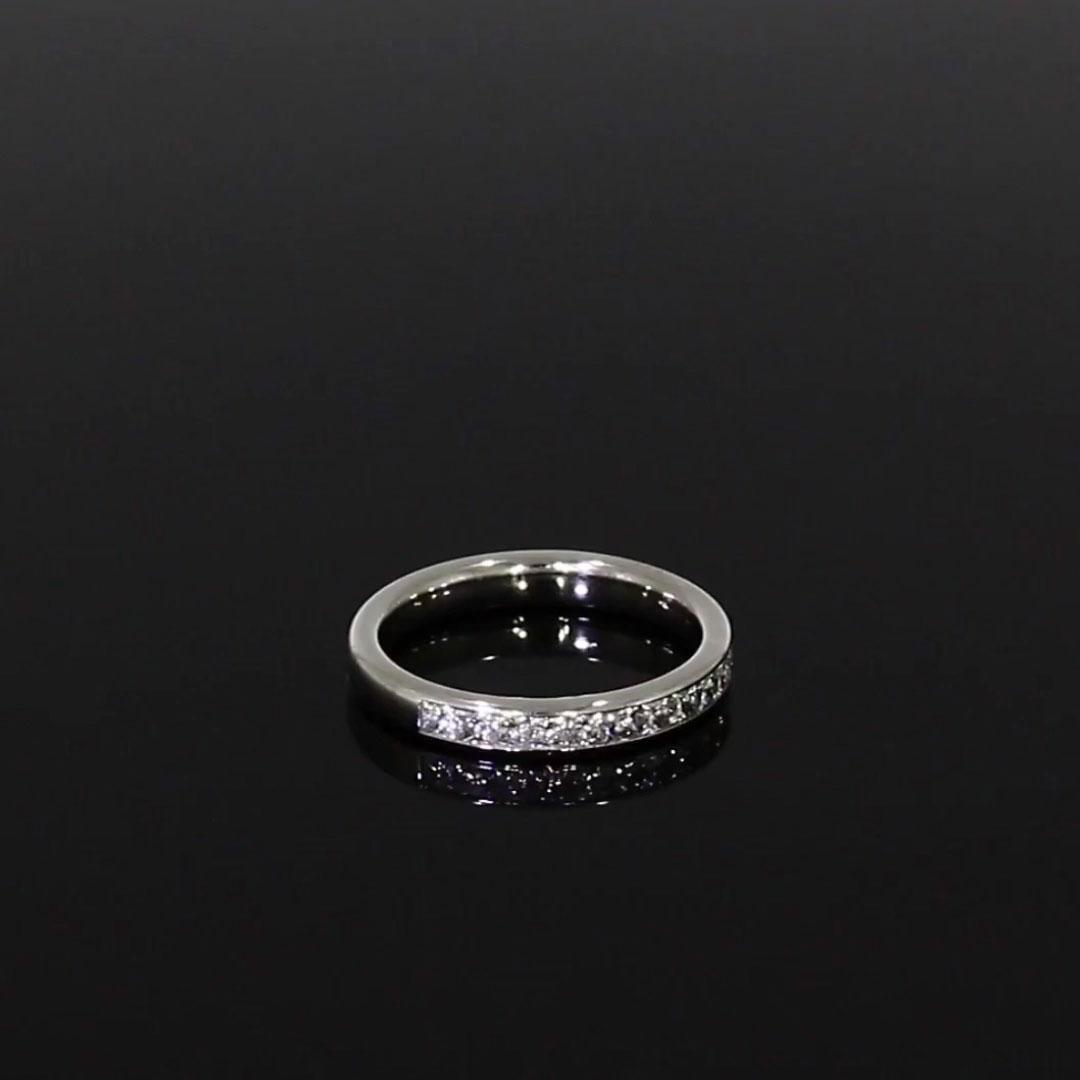 Princess Cut Diamond Half Eternity Ring<br /> 0.74CT in Platinum
