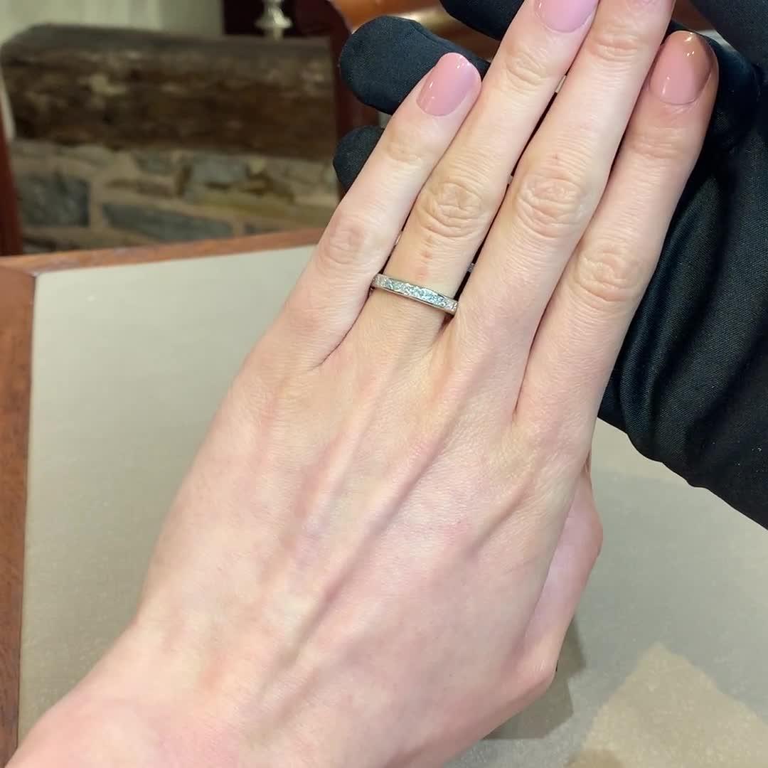 Princess Cut Diamond Eternity Ring<br /> 1.70CT in Platinum
