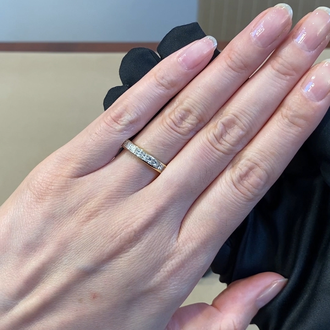 Princess Cut Diamond Eternity Ring<br /> 2.33CT in 18CT Yellow Gold