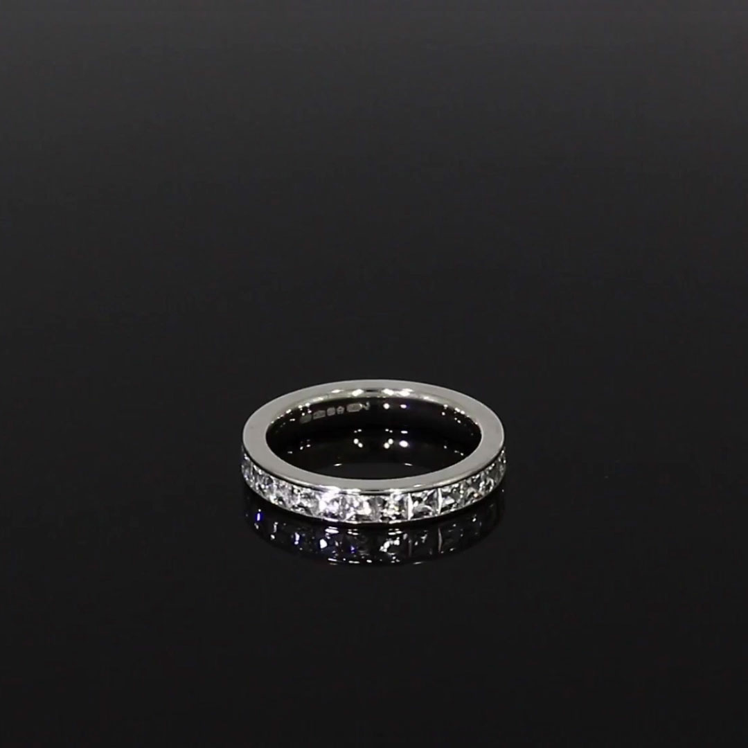 French Cut Diamond Eternity Ring<br /> 2.23CT in Platinum