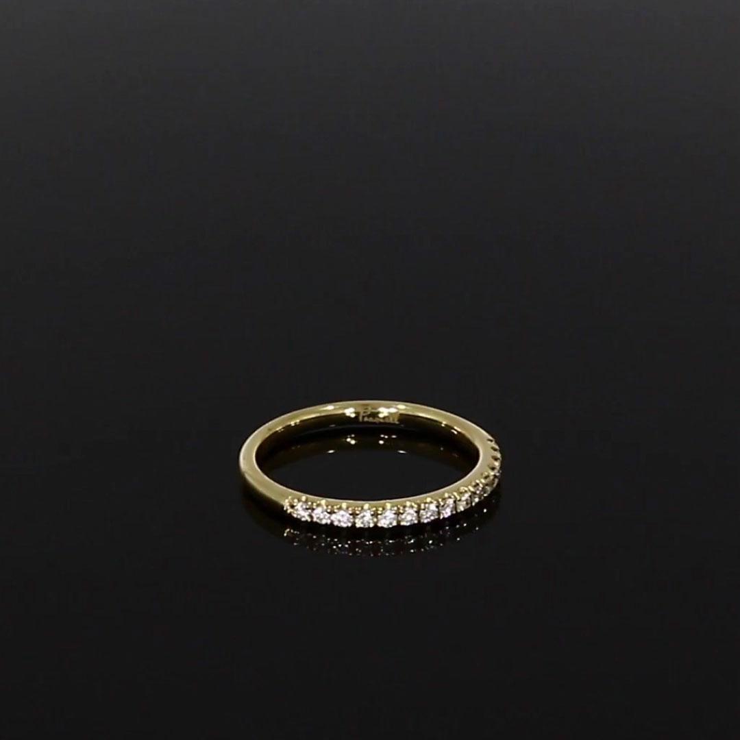 Brilliant Cut Diamond Half Eternity Ring<br /> 0.22CT in Yellow Gold
