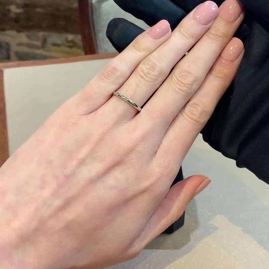 2mm Pragnell Court Wedding Ring<br /> in Platinum