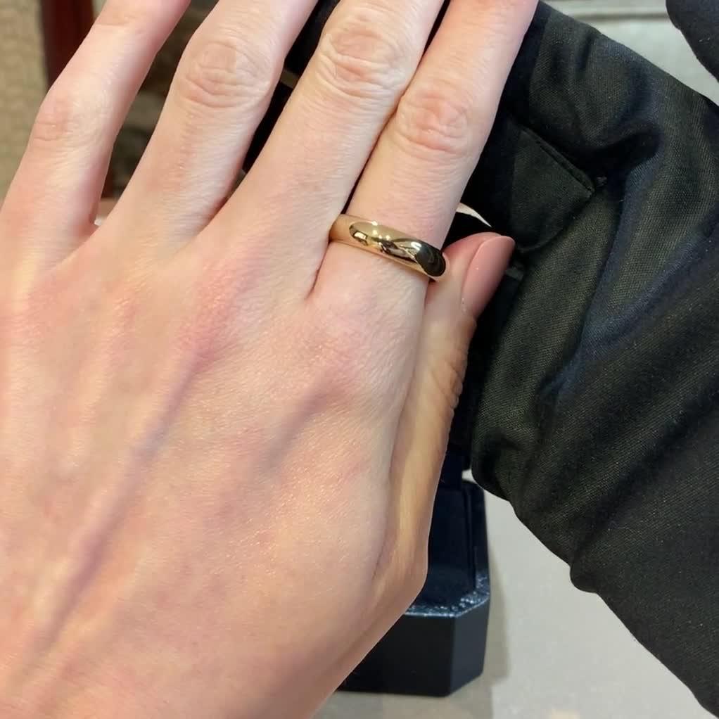 3mm Pragnell Court Wedding Ring<br /> in 18CT Rose Gold