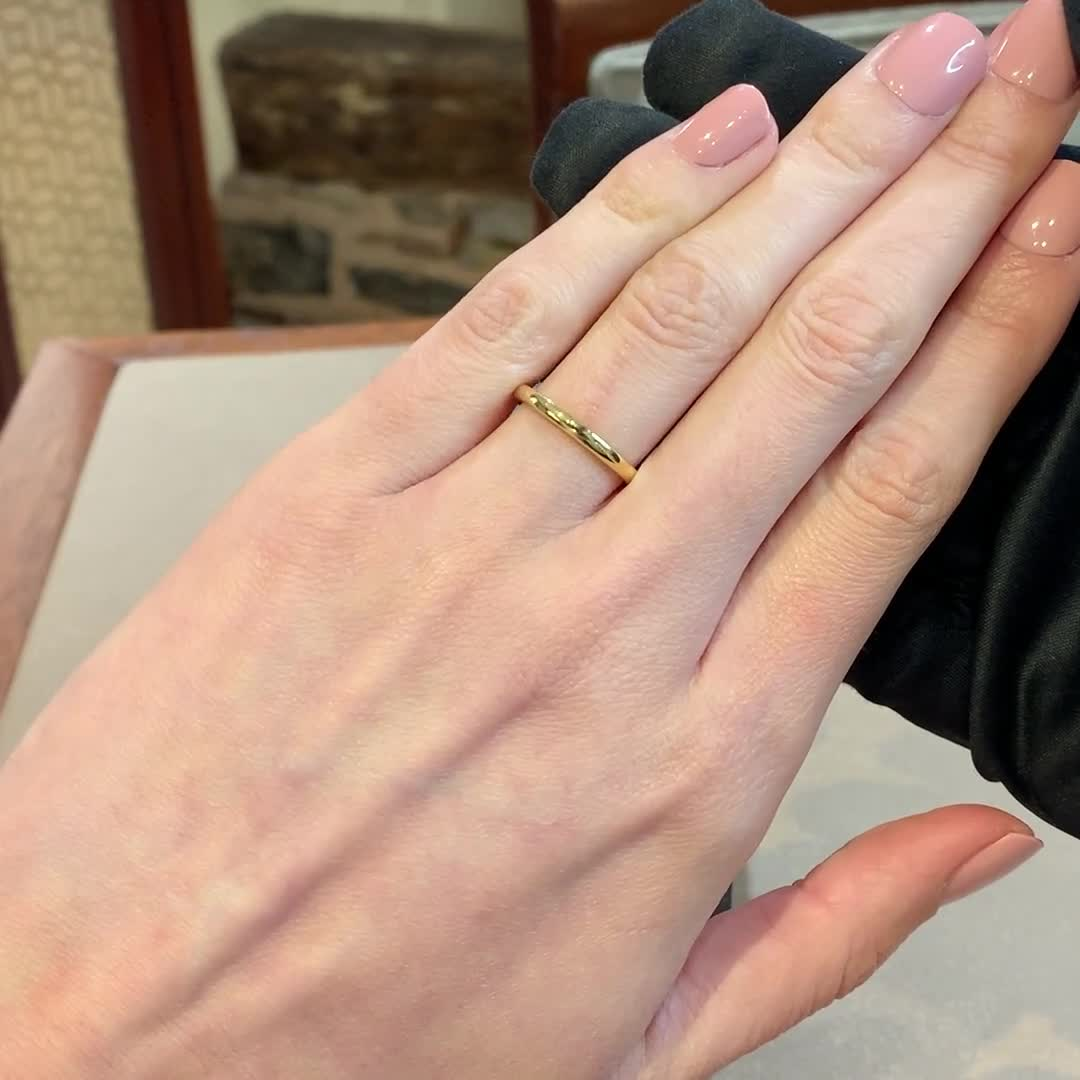 2mm Pragnell Court Wedding Ring<br /> in 18CT Yellow Gold