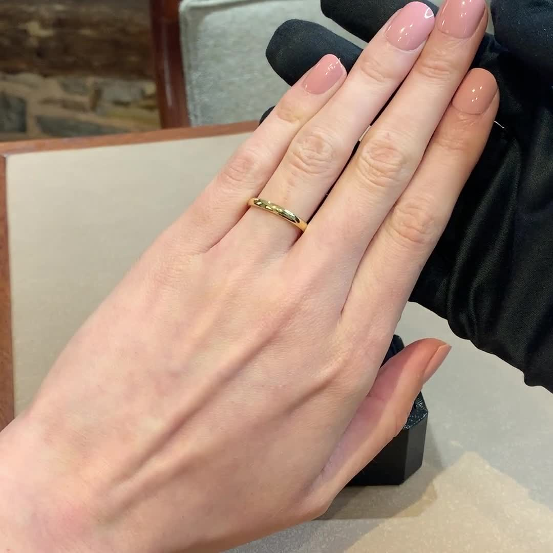 2.5mm Pragnell Court Wedding Ring<br /> in 18CT Yellow Gold