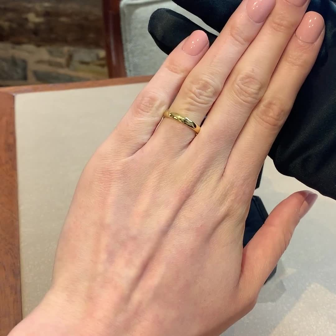 3mm Pragnell Court Wedding Ring<br /> in 18CT Yellow Gold