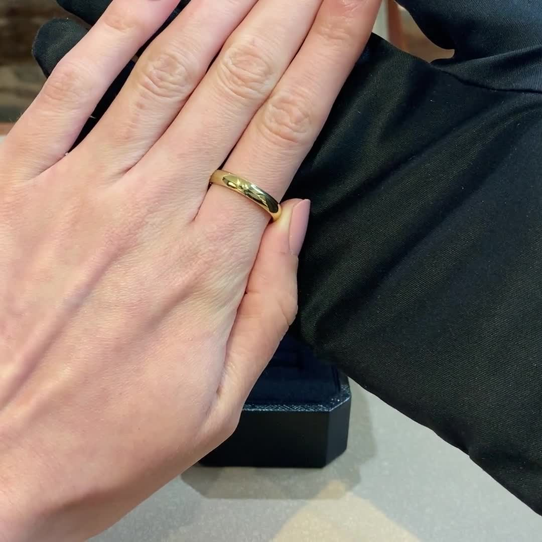 4mm Pragnell Court Wedding Ring<br /> in 18CT Yellow Gold