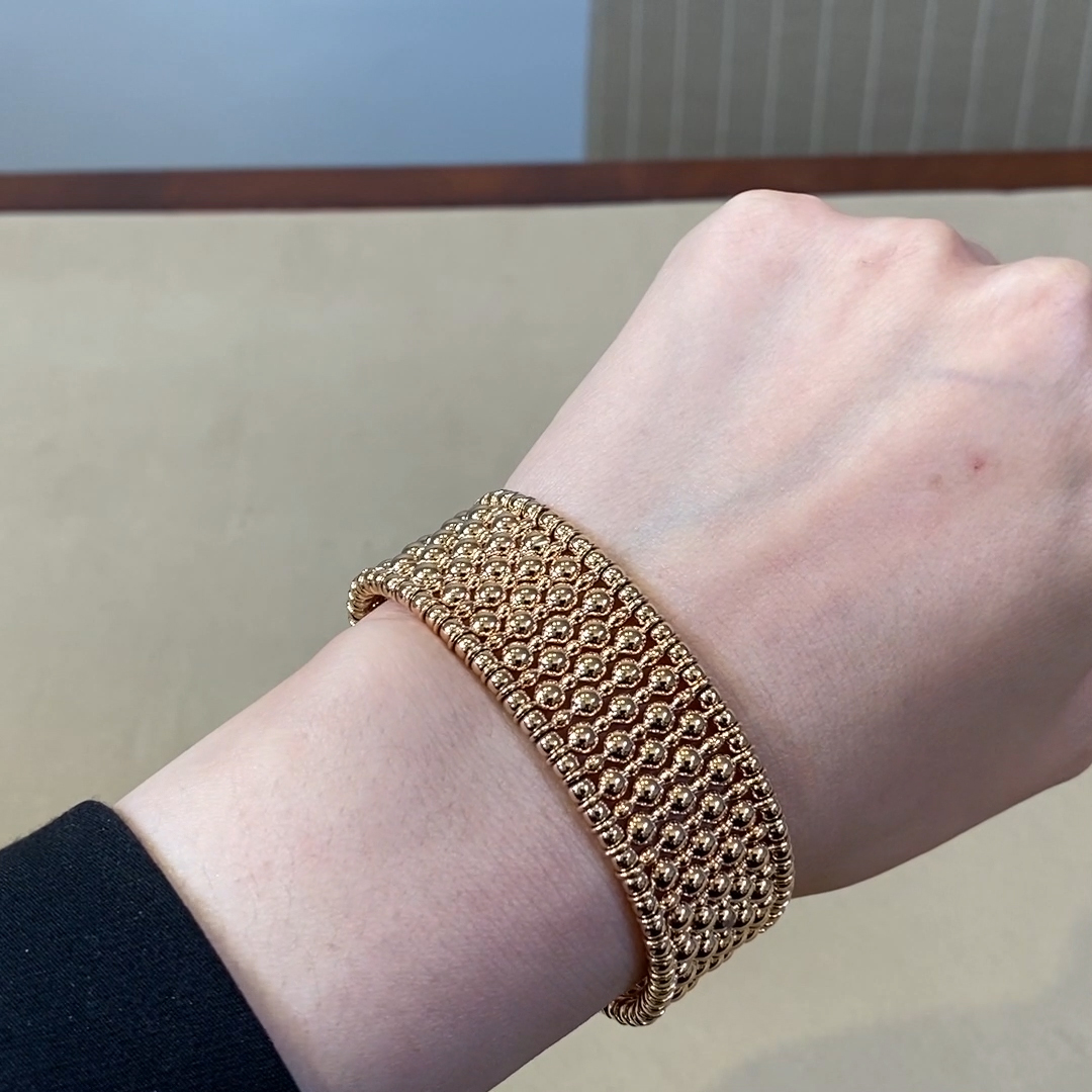 Bohemia Wide Bangle<br /> in Rose Gold
