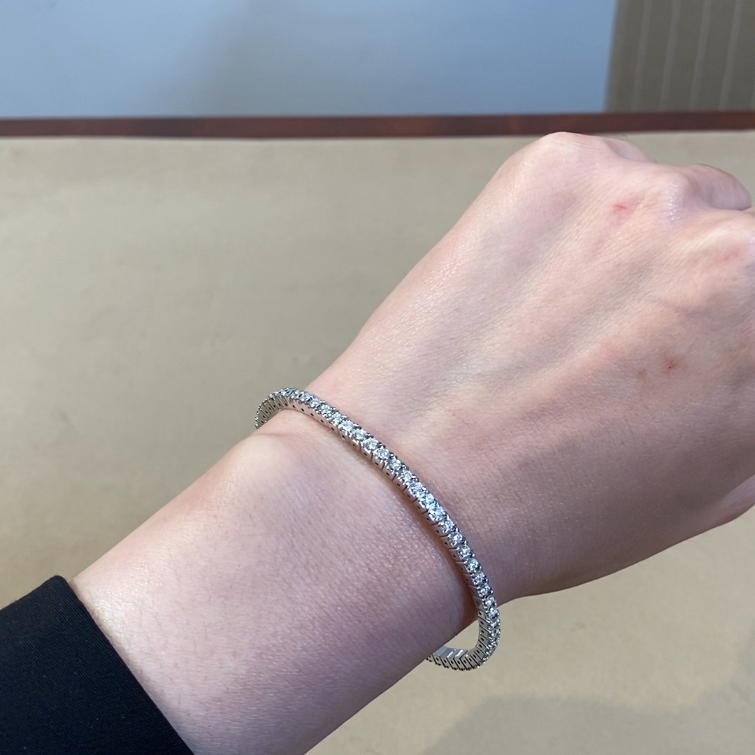 Expandable Diamond Bangle <br /> 2.24ct in White Gold