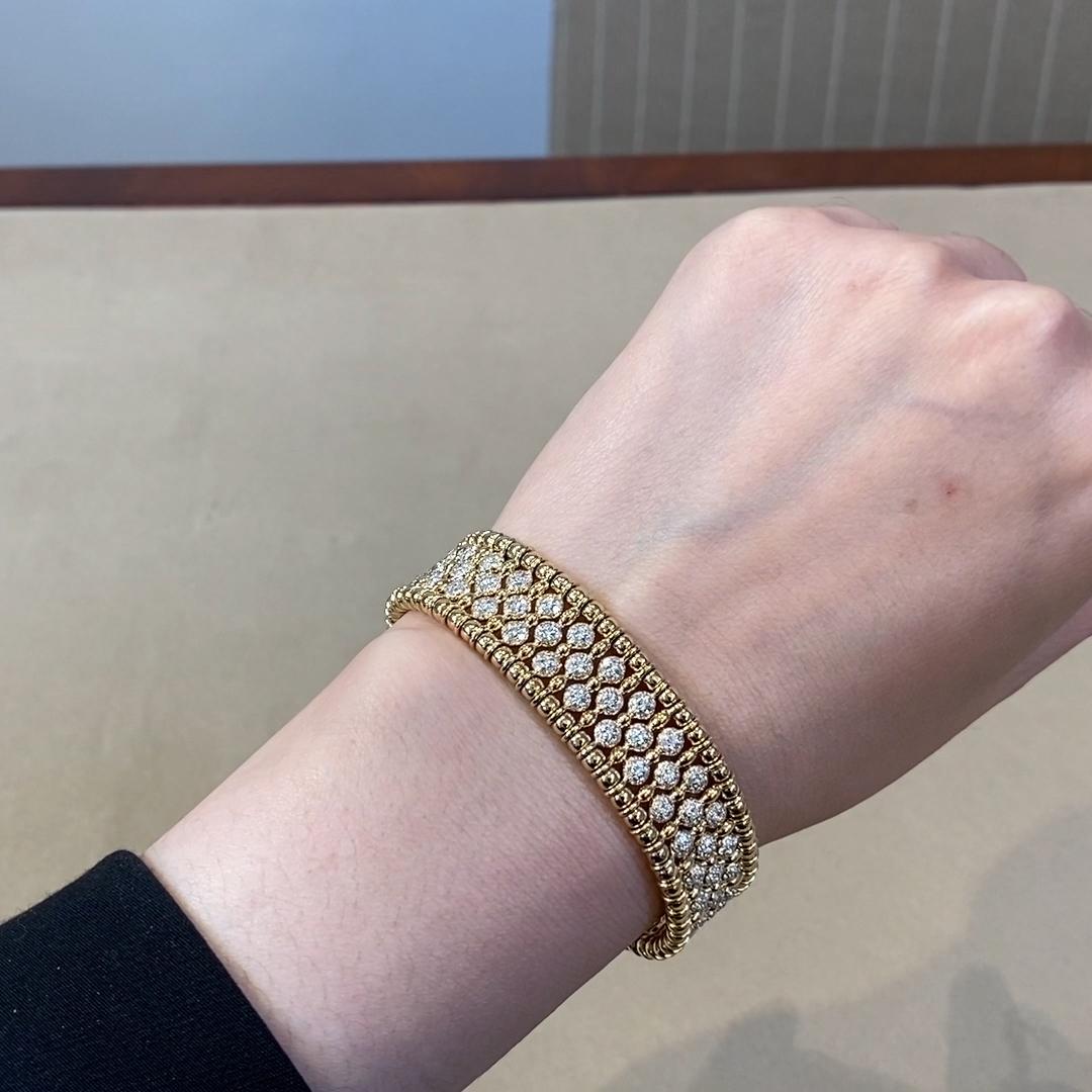 Bohemia Diamond Wide Bangle<br /> 4.41CT in Yellow Gold