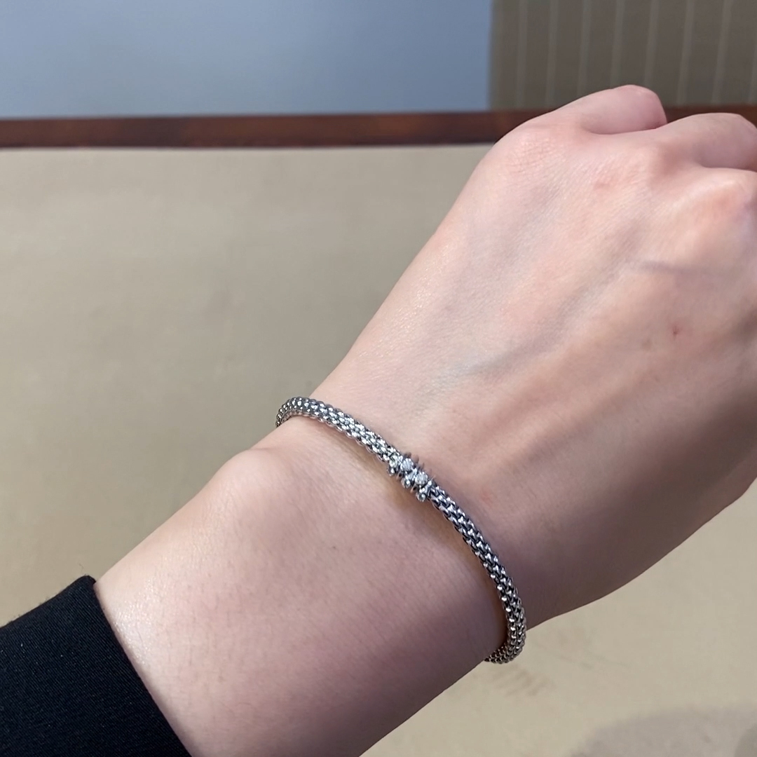 Fope Flex'it Prima Diamond Bracelet<br /> in 18CT White Gold