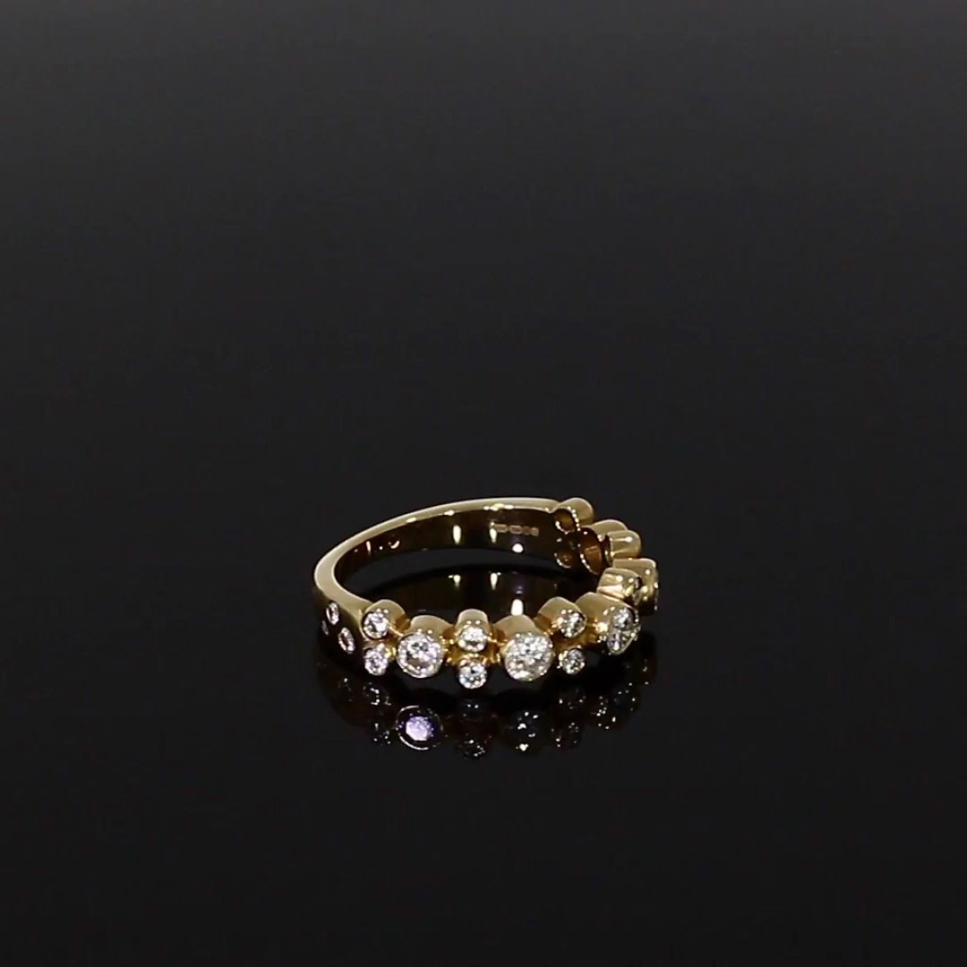 Bubbles Half-Eternity Diamond Ring<br /> 0.77CT in Rose Gold