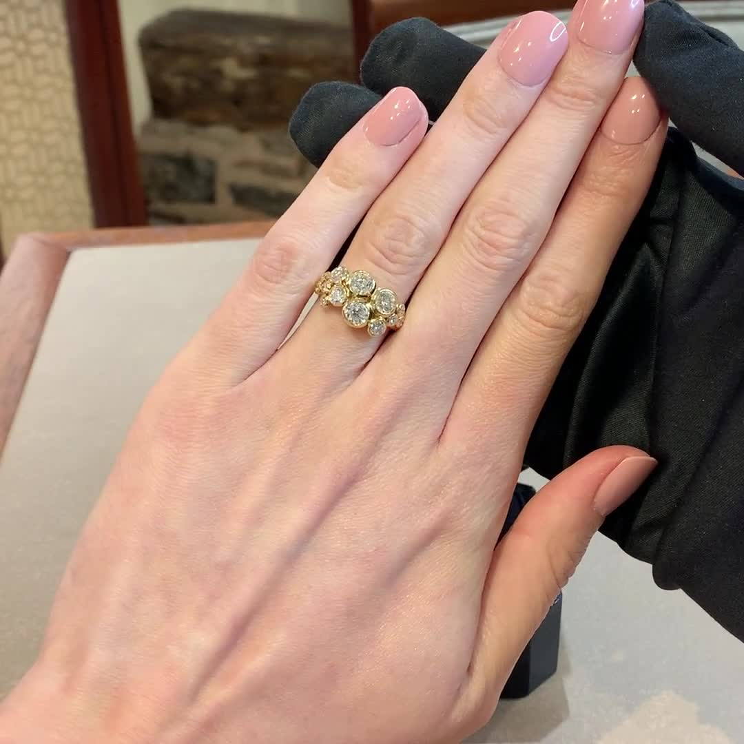 Bubbles Diamond Dress Ring<br /> 2.22CT in Rose Gold
