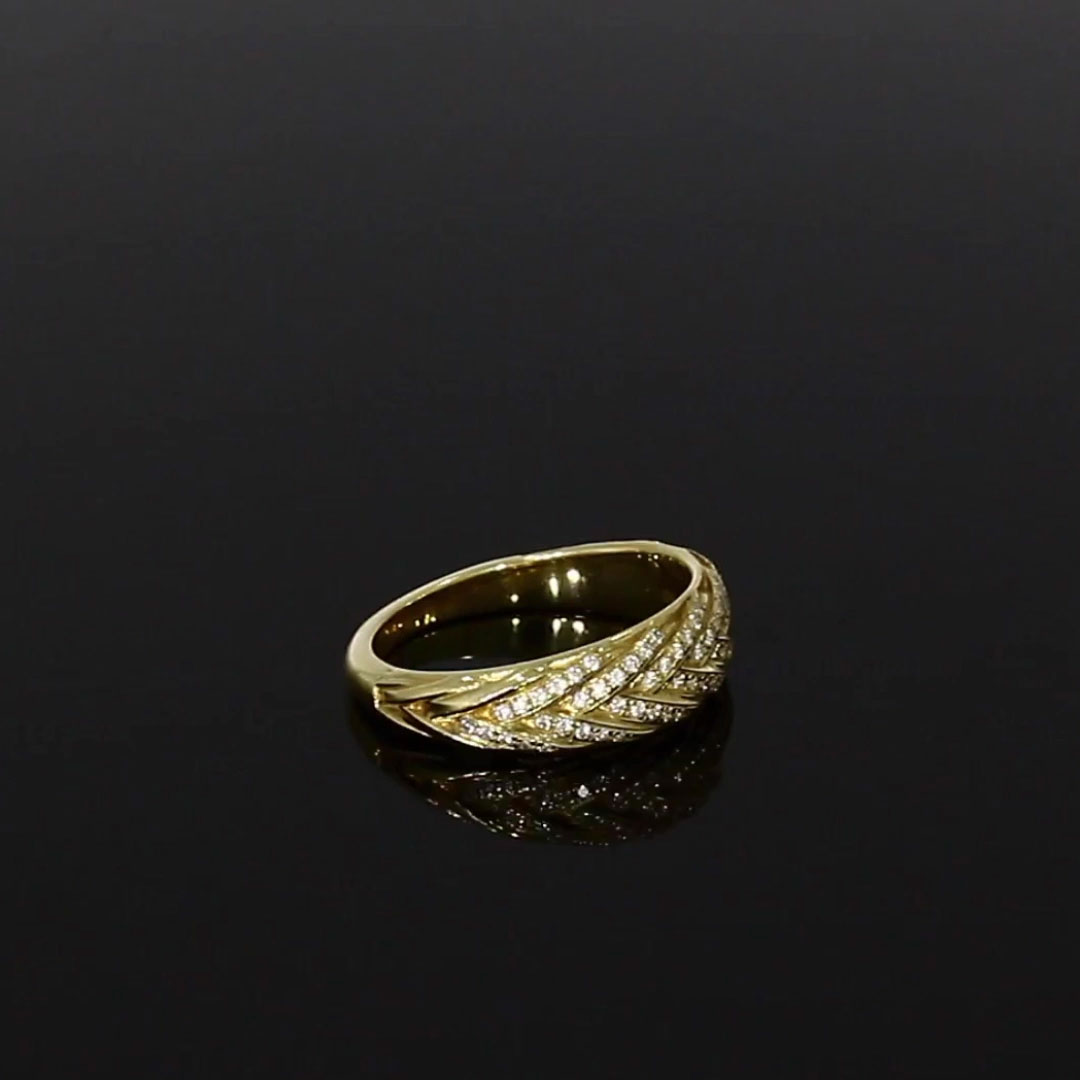 Skyfall Diamond Band Ring<br /> 0.35CT in Yellow Gold