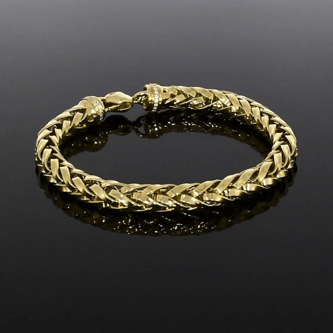 Handmade English Chain 19cm Heavy Chain Bracelet<br /> in 18CT Yellow Gold