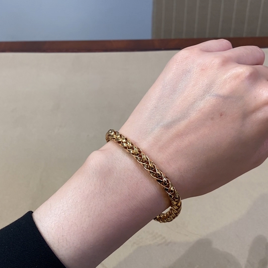 Handmade English Chain 19cm Heavy Chain Bracelet<br /> in 18CT Rose Gold
